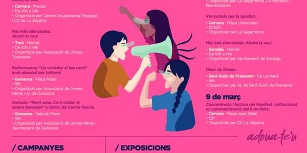 La Segarra es volca amb el Dia Internacional de la Dona amb més de quinze actes durant la setmana